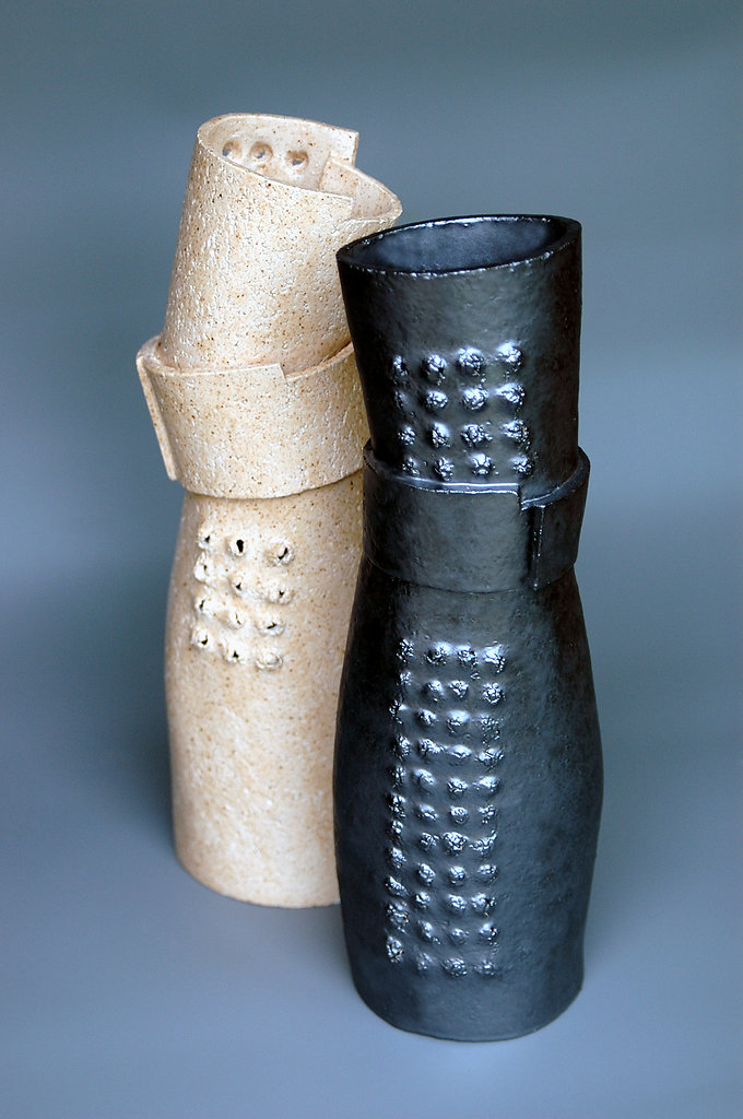 Two Collar Vases